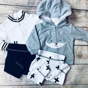Baby Boy sz 3m 4pc pant/jacket set
